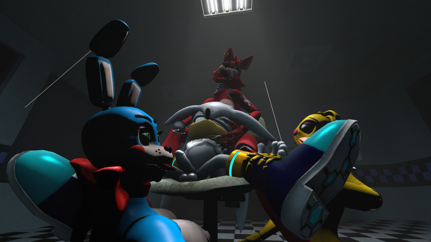 foxy and toy fnaf chica Bloodstained ritual of the night porn